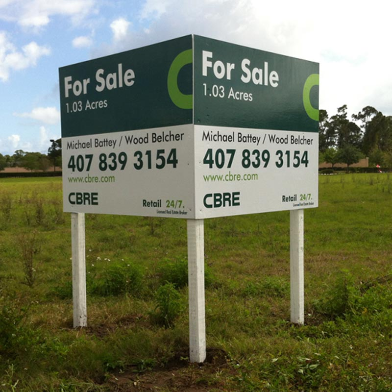 Custom Commercial Real Estate Signs