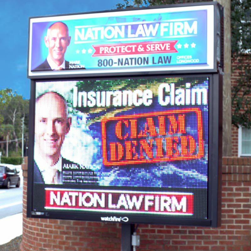 digital sign orlando messaging nation law firm